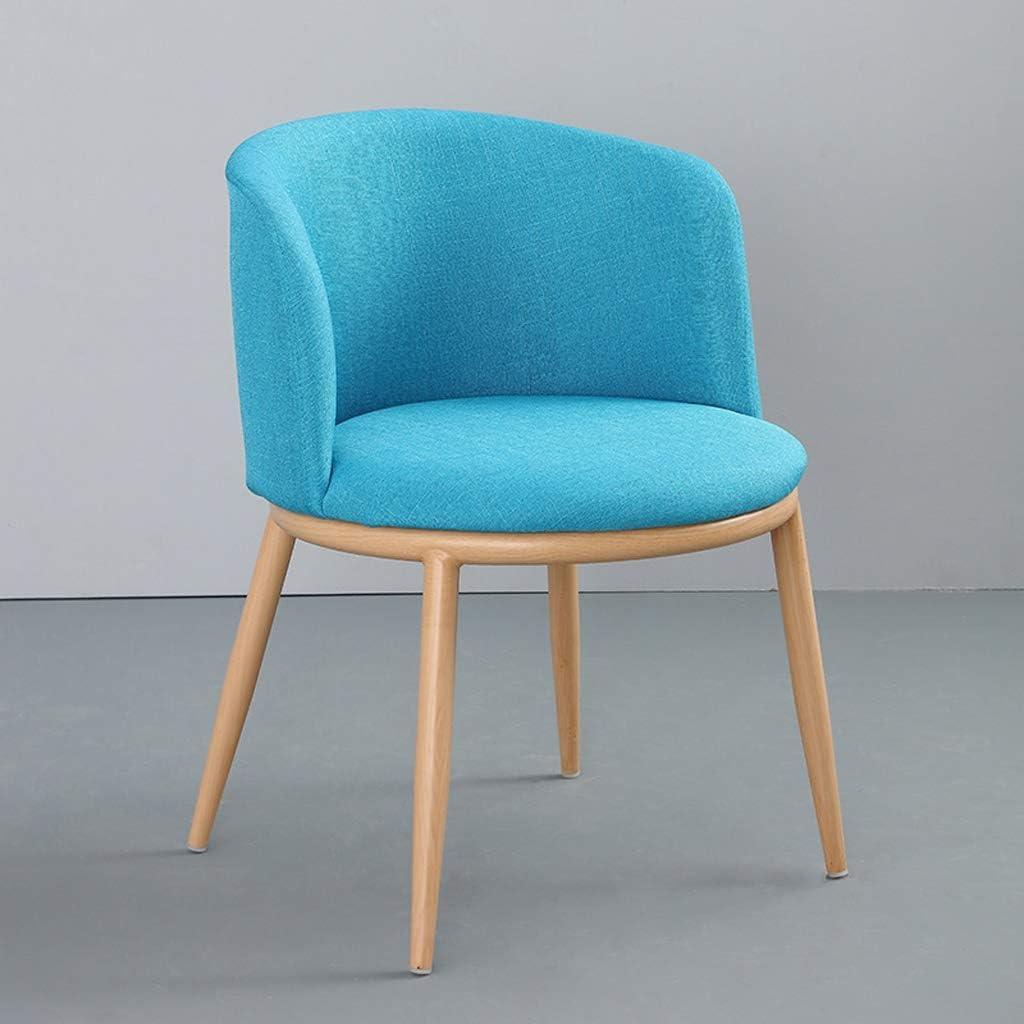 SLL- Chaise de Salle, Chaise de Bureau Simple, créative Dossier, Chaise Loisirs, Maison Adulte Chaise de Salle Moderne (Color : Blue) Blue