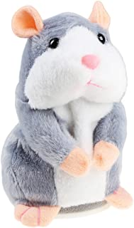 Sponsored Ad - Talking Hamster Plush Toy, Repeat What You Say Funny Kids Stuffed Toys, Talking Record Plush Interactive To...