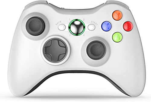 VOYEE Controller Replacement for Xbox 360 Controller, Wireless Upgraded Controller with Dual Shock/Adapter Compatible...