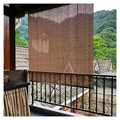 XJJUN Außenrollo, 90% UV-Beständigkeit Außensonnenschutz Atmungsaktiver Stoff Sichtschutz, Für Balkon Terrasse Garten (Color : Brown, Size : 1.5x1.5m)