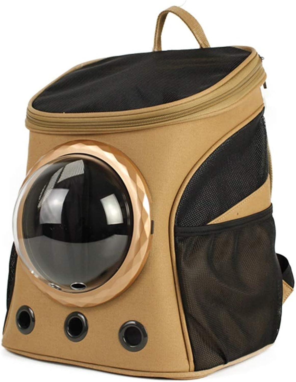 Pet Backpack Space Bag Outgoing Carrying Case Shoulder Bags Handbag Dog Bags Cat Cage (color   A, Size   32X25X38cm)
