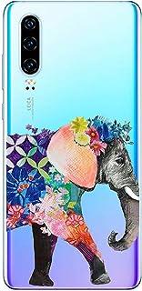 Oihxse beschermhoes voor Huawei Enjoy 9, ultradun, transparant, zachte TPU-gel, silicone, schattig motief, schokbestendig,...