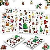 TaimeiMao 90 Stück Weihnachten Stickers,Weihnachts Aufkleber,Geschenk Aufkleber, Sticker Etiketten,Weihnachten Sticker Scrapbooking,Weihnachtsaufkleber für Kinder,Weihnachtssticker Motiv...