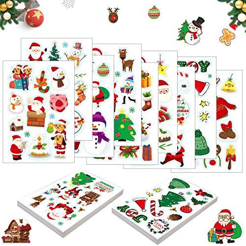 TaimeiMao 90 Stück Weihnachten Stickers,Weihnachts Aufkleber,Geschenk Aufkleber, Sticker Etiketten,Weihnachten Sticker Scrapbooking,Weihnachtsaufkleber für Kinder,Weihnachtssticker Motiv Set