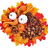 Yeah-hhi 218PCS/Set Halloween Mini Pumpkin Artificial/Hoja De Arce/Pine Cono/Bellota Props De Decoración De Cosecha De Otoño Decoraciones De Día De Acción De Gracias De Halloween