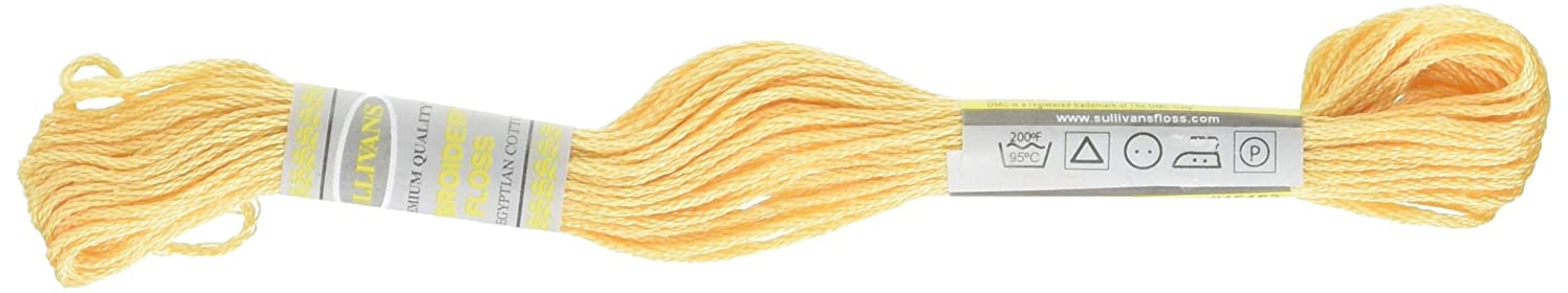 Sullivans Six Strand Embroidery Cotton 8.7 Yards-Light Autumn Gold 12 per Box
