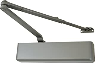 FALCON SC81 Rw/PA Alum Full Medium Duty Door Closer, Regular Arm with Parallel Arm Shoe, Full Cover, Aluminum Finish
