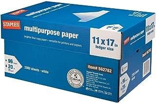 StaplesMultipurpose Paper, 20 Lb, 96 Bright, 11
