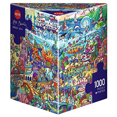 Heye 29839 Magic Sea Triangular 1000 Teile, Rita Berman, Grey