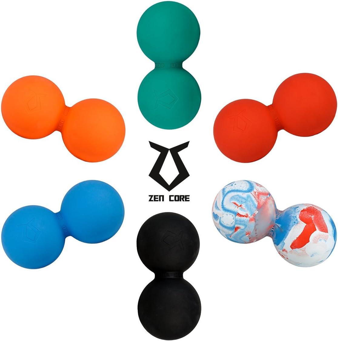 Twinball Faszienrolle Lacrosseball Hartgummi Gr/ö/ße 13 x 6 cm f/ür die Anwendung zur Triggerpunkt und Faszienmassage//Physiotherapie Zen Core Massage Duoball Original
