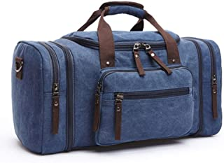Mens Canvas Travel Duffel Male Large Capacity Travel Bags Travel Tote Carry on Crossbody bag Overnight |Travel Bags|
