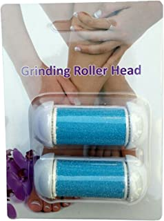 Nature Tech Pedicure Refills callus remover Replacement Roller Heads,Mineral Stone Grinding Rollers Callus Shavers -1 Pack of 2 (Blue)