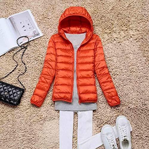 YRFHQB Winterjas, 90% dons, voor dames, herfst, met capuchon, mantel voor dames, ultralicht, dons, warme jas, parka, dons, 11 kleuren
