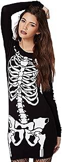 Halloween Punk Skeleton Skull Stretch Slim Casual Women Dress