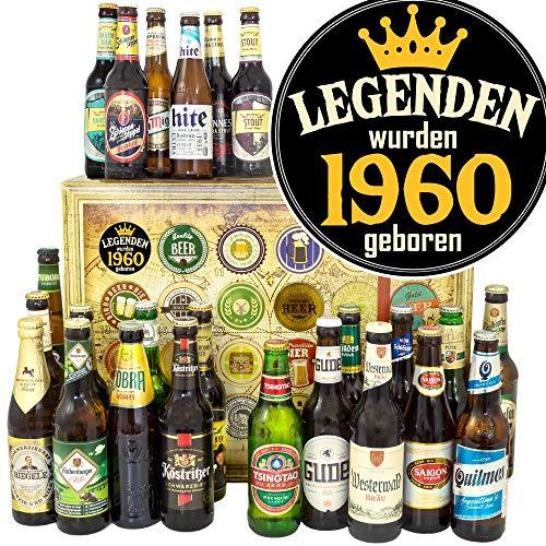 Legenden 1960 - Biere der Welt und D - 24x - 1960 Geschenk Geburtstag/Bier Adventskalender