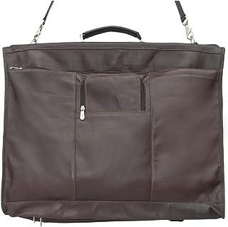Piel Leather Elite Garment Bag, Chocolate, One Size