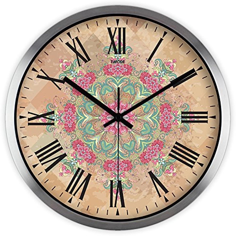 en venta en línea Silencia Continental Continental Continental salón relojes creativo y elegante jardín reloj de cuarzo de metal de 12   conveniente