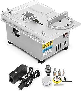 KKTECT Sierra de mesa de precisión en miniatura, potencia nominal de 96 W para máquina pulidora de torno para carpintería, para manualidades de madera hechas a mano, corte de placa de circuito impreso