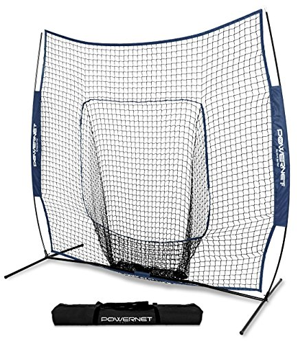 PowerNet Team Color Baseball Softball 7x7 Hitting Net w/Bow...