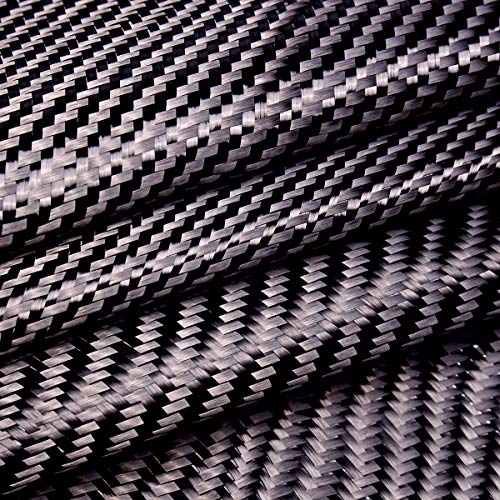 KUNSE 3K 200gsm Carbon Fiber Doek Instelling Stof Auto Industrieel Materiaal Koolstofvezel Board 36x32 Inch