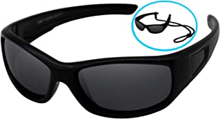 COOLSOME Flexible Rubber Kids Polarized UV Protection...