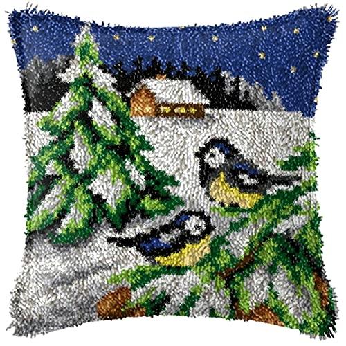 Kit de cierre de gancho para manualidades, funda de almohada para mascotas, funda de almohada bordada, costura para decoración del hogar (43 x 43 cm)