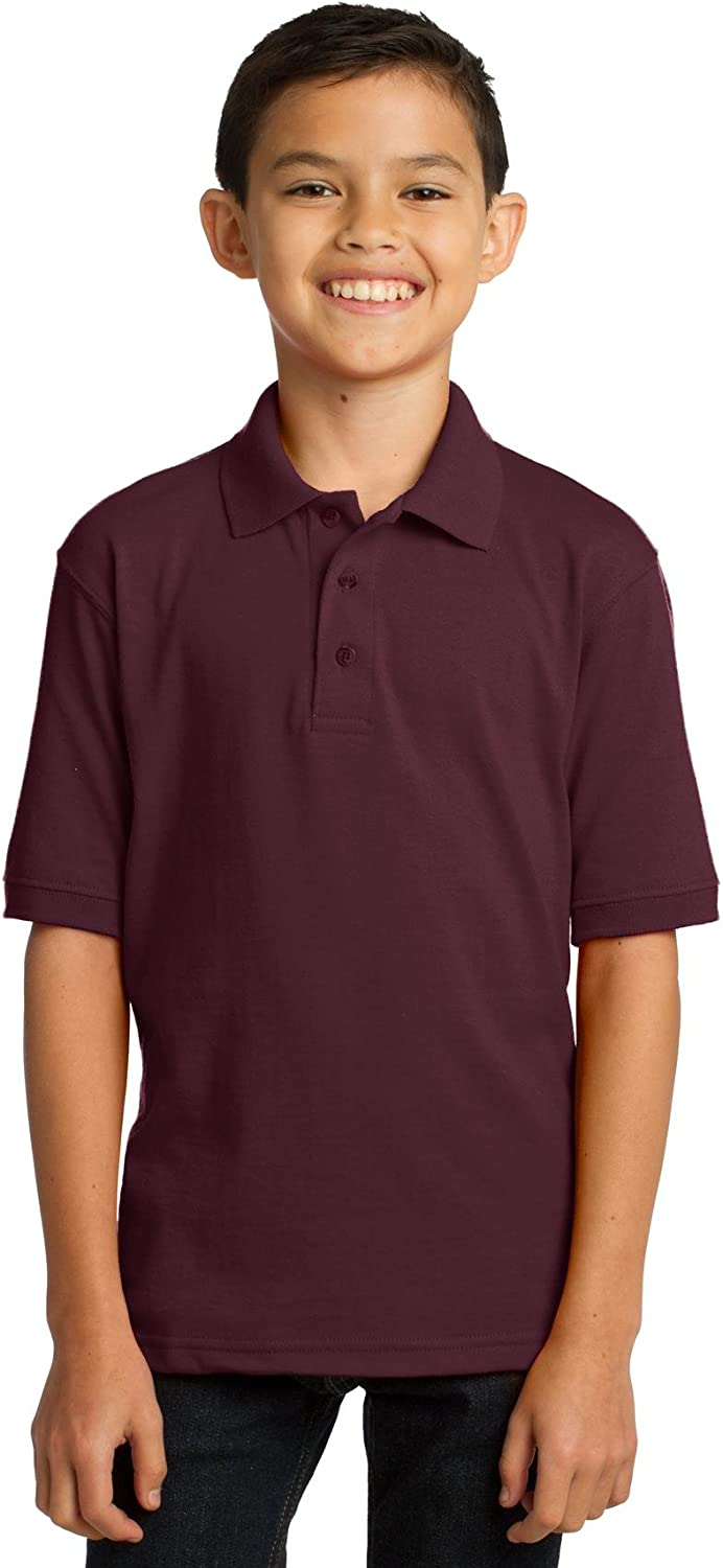 XtraFly Apparel Boys Youth Core Blend Jersey Knit Polo Shirt KP55Y