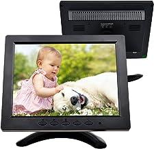 Pantalla 8 Pulgadas LED en Color TOGUARD Monitor Full HD 1024x600, Entrada VGA/AV/BNC/HDMI, Compatible con PC Cámara de Seguridad Cámara de Vigilancia