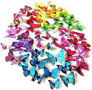 comprar comparacion Foonii 72 Piezas 3D Mariposa Pegatinas de Pared Etiquetas Engomadas Mariposas Decoración de la Pared Para Hogar Casa Habit...