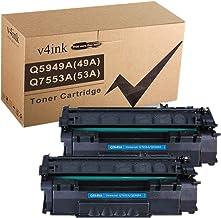 V4INK Compatible 49A 53A Toner Cartridge Replacement for HP Q5949A Q7553A for use with HP Laserjet 1320 1320n P2015dn P201...