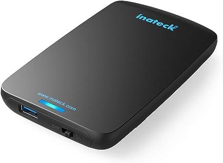 [UASP optimisé pour SSD]Inateck USB 3.0 boîtier externe pour disque dur de 2.5 pouces optimisé pour SSD 9.5mm 7mm SATA DD USB 3.0-A câble aucun pilote installation directe/ Notebook / Mac/ Windows