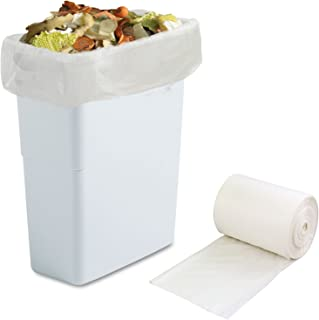 Morcte 100% Compostable Bags 10 Gallon Compost Trash Bags, 100 Counts (White)