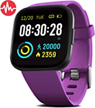 """FITVII Smart Watch, Fitness Tracker with Heart Rate Monitor, Activity Tracker with 1.3"""" Touch Screen, IP68 Waterproof Pedo..."""
