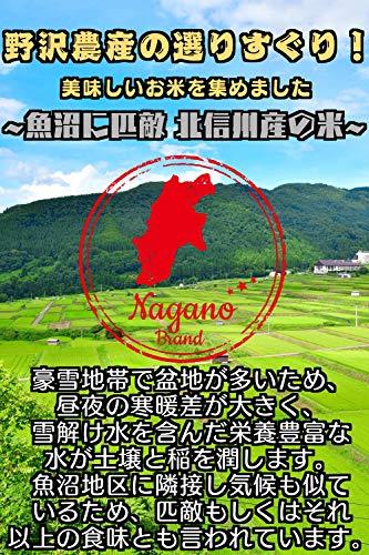 野沢農産無洗米令和元年産長野県北信産特A特別栽培米コシヒカリぶなの水5kg