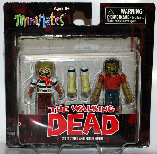 DIAMOND SELECT TOYS Walking Dead Minimates 2-Pack - Sailor Zombie and Leg Bite Zombie by