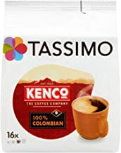 Tassimo Kenco Colombian Coffee Pods (Case of 5, Total 80 pods, 80 servings)