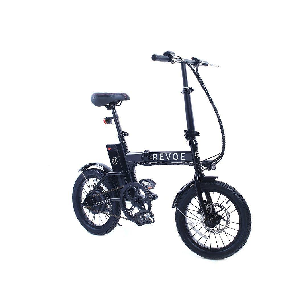 REVOE Lite Bicicleta eléctrica Plegable, Negro: Amazon.es ...