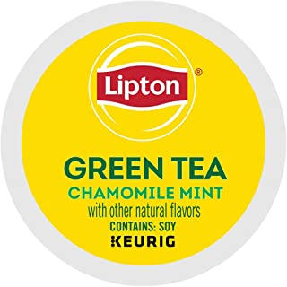 Lipton Soothe Green Tea with Chamomile and Mint single serve capsules for Keurig K-Cup pod brewers, 18 Count