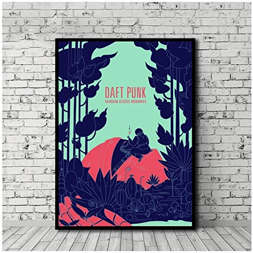 Daft Punk Music Stars Art Poster Canvas Print Home Decor Wall Art Decor -60x80cm No Frame