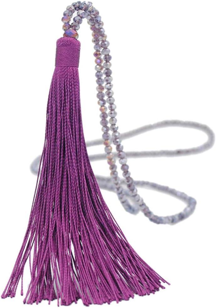 Womens Jewelry Clearance!!! Vintage Long Tassel Drop Sweater Chain Boho Glass Crystal Bead Necklace Women,Cheap Jewelry Under 317 Dollars
