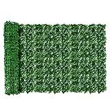 AGJIDSO Pantalla de Cerca de privacidad de Hiedra Artificial, 100 * 300 cm césped de imitación de jardín de,decoración de Hojas de Planta Falsa para jardín de Valla (Hojas de camote)
