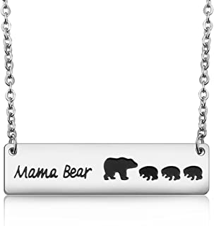 Sweet Mama Bear Necklace for Mom Grandma Wife Godmother Necklace