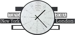 ARTI E MESTIERI Reloj de pared de hierro Jet Lag Color Negro