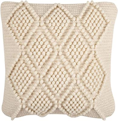 """Safavieh Collection Space Dyed 20"""" Throw Pillow, Off-White"""