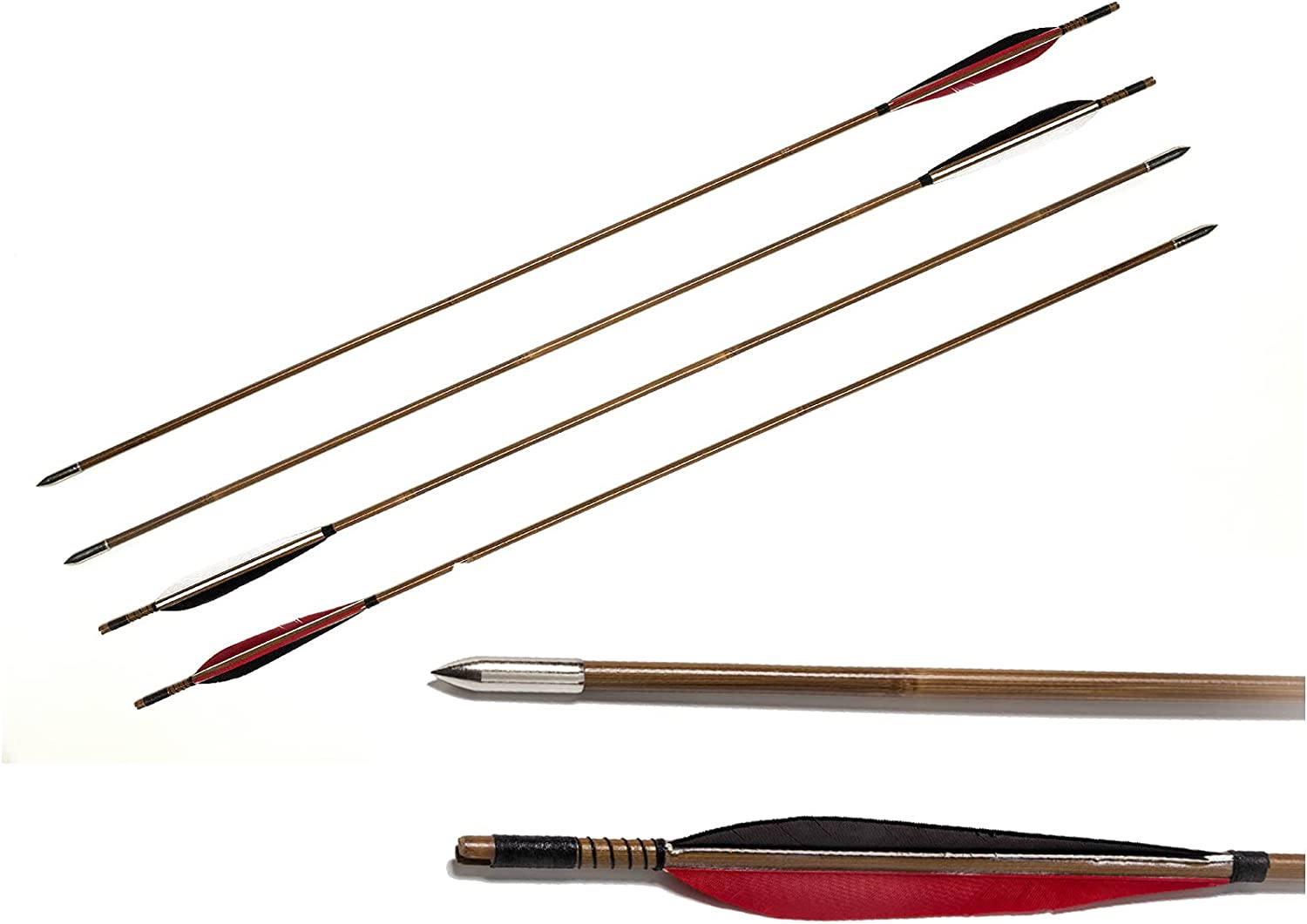 K99 Spring new work one after another 4 Pcs Traditional Handmade Hun Archery Bamboo Feather Turkey Tucson Mall