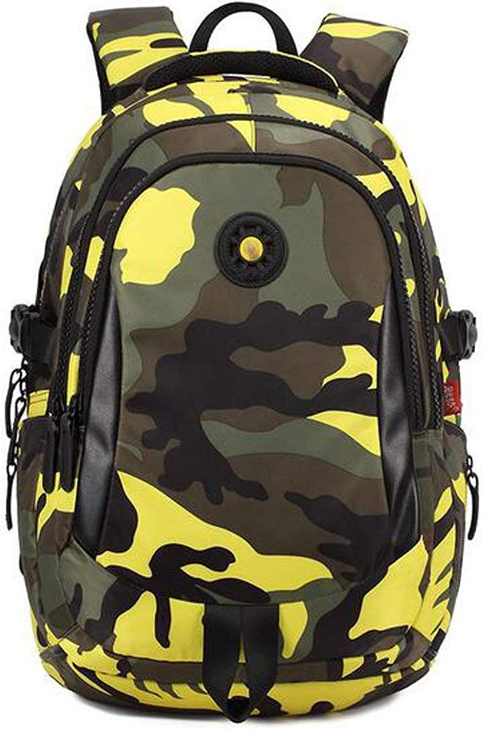 ZBHW Camouflage Printed Primary School Nylon Backpack - Ideal for 1-6 Grade School Students Boys Girls Daily Use and Outdoor Activities