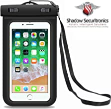 Shadow Securitronics Plastic Universal Waterproof Dust Proof Touch Sensitive Pouch Dry Bag for All Smart Phones (Transparent)