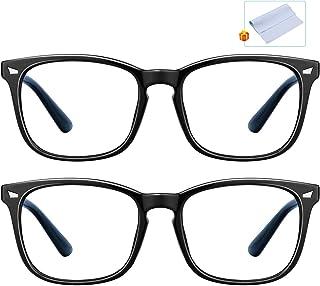 Blue Light Blocking Glasses, Computer Glasses Square Eyeglasses Frame, Blue Light Blocker Glasses for Women Men, Anti Eye ...
