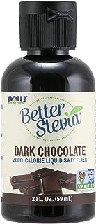 NOW Foods, Better Stevia Liquid, Dark Chocolate, Zero-Calorie Liquid Sweetener, Low Glycemic Impact, Certified Non-GMO, 2-...