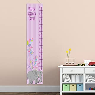 Personalized Elephant Height Chart for Girls